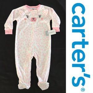 New Carter's fleece sleepwear footed pajama 12m